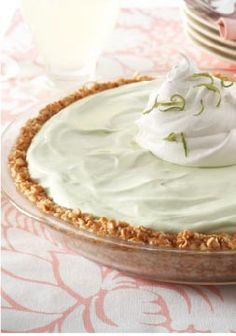 Key Lime Margarita Pie – While there's no alcohol in this creamy frozen dessert, it sure tastes real. The hint of salt comes from the pretzel crust, while the citrus zip is in the creamy filling.
