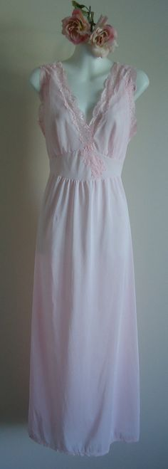 Vintage 1960s French Maid Lingerie Co. Montreal Pink Nightgown on Etsy, $54.59 CAD