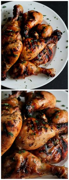 Grilled Maple Dijon and Chili Chicken Drumsticks...296 calories and 7 Weight Watchers PP | cookincanuck.com #recipe