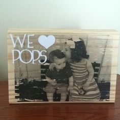 Photo transferred to wood. Great gift idea!