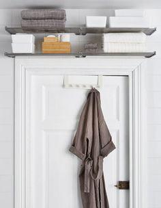 Bathroom Wall Storage Ikea Small Spaces 46 Ideas For 2019 Bathroom Towel Storage, Bathroom Wall Shelves, Small Bathroom Organization, Bathroom Towels, Bedroom Storage, Bathroom Ideas, Storage Closets, Bathroom Small, Bathroom Closet