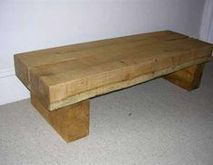 Andrew's railway sleeper bench / table