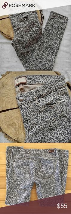 🌷Anthropologie Paige Leopard Jeans RARE! Size 27 Anthropologie Paige leopard print peg skinny jeans. Size 27, stretchy, comfy fit. It took me three Anthro stores to find these gems as they sold out online immediately. In great condition!! No trades, thanks. Anthropologie Jeans Skinny