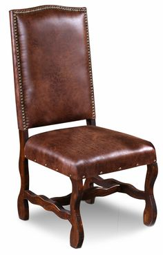 Manor Dining Chair  sc 1 st  Pinterest & Genuine Leather Dining Chairs | Leather Dining Chairs | Pinterest ...