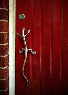 Door knob, actually a handle.