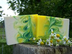 "Lavender & Chamomile Soaps - the ""Mantra Swirl"""