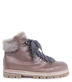 Mole Leather Lace Up Boot