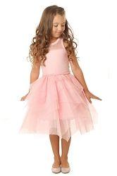 Ooh! La, La! Couture Pink Parfait Tulle Necklace Dress