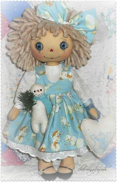 Annie's Snowman by charmingsbycmh: AVAILABLE ANNIE DOLLS