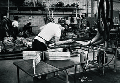 The Barcelona chair in production | Knoll Inspiration