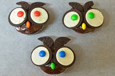 Owl muffins Yummy Cakes, Cake Pops, Muffins, Cupcakes, Cookies, Baking, Desserts, Woodland Forest, Cakes