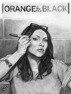 Here's a hand drawing that I made of Laura Prepon ( Alex Vause) from the tv show orange is the new black in 2015  to see more of my work you can visit my intagram: mhh3dartist  or my website: http://mhh3dartist.wix.com/mariehelenehebert