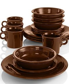 Chocolate Fiesta Dinnerware:  one of the few colors I don't have.
