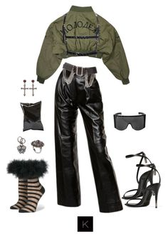 A fashion look from February 2017 featuring white top, flight jackets and high waisted pants. Browse and shop related looks. Kpop Outfits, Edgy Outfits, Fashion Outfits, Girl Outfits, Dope Fashion, Star Fashion, Womens Fashion, Luxury Lifestyle Fashion, Korean Street Fashion