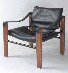 Maurice Burke; Safari Chair for Arkana, 1970s.