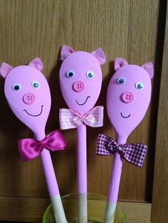 Fall Crafts, Easter Crafts, Diy And Crafts, Crafts For Kids, Arts And Crafts, Wooden Spoon Crafts, Wooden Spoons, Pig Crafts, Preschool Crafts