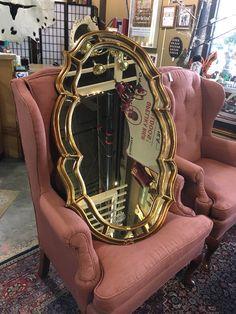 Gold Framed Mirror  - Auburn  - $85