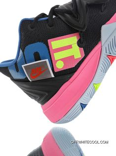 2c6fee147b3c Nike Kyrie 5 Just Do It AO2919-003 JDI Black Pink Blue Color Matching  Indoor Battle Sport Basketball Shoes Online