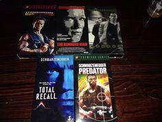 ARNOLD SCHWARZENEGGER VHS Lot 5 Videos: Predator Total Recall Commander Eraser R