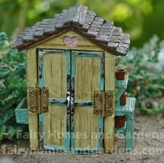 Fairy Homes and Gardens - Miniature Garden Shed, $12.60 (http://www.fairyhomesandgardens.com/miniature-garden-shed/)