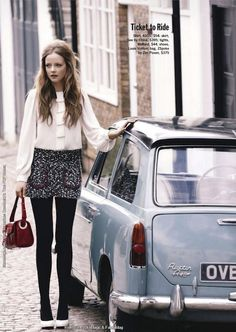 """British Invasion"": Mod Looks & Beatles Tunes in London by Dean Isidro for US Cosmo"
