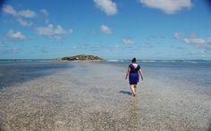 Walking on water in St Martin