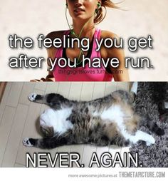 The feeling after you run… But really. NEVER.