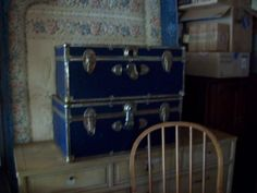 Old trunk w/ cedar inside Have 2 of them $15 each Good Shape - so cute