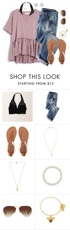 """whatever you decide to do, make sure it makes you happy"" by typical-lizzie ❤ liked on Polyvore featuring Aerie, Wrap, Billabong, Jeweliq, Rebecca Minkoff, Aid Through Trade, Ray-Ban and Alex and Ani"