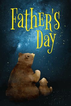 Father's day card with bears vector   free image by rawpixel.com / Busbus Fathers Day Images Free, Happy Fathers Day, Bear Vector, Vector Free, Daddy Day, Free Illustrations, Free Image, Digital Illustration, Modern Art