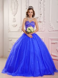 Beading Sweetheart Ball Gown Quinceanera Dress in Royal Blue