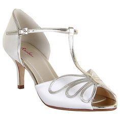 7d6c5d099aab Buy Rainbow Club Harlow T-Bar Stiletto Heeled Sandals, Ivory Satin Online  at johnlewis
