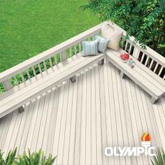 Exterior Wood Stain Colors, Deck Stain Colors, Deck Colors, Behr Deck Over Colors, Paint Colors, Colours, Grey Deck Stain, Green Wood Stain, Blue Stain