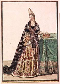 Olympe Mancini in Fontanges headdress