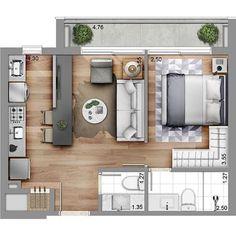 Small Studio Apartment Layout Design Ideas - Welcome my homepage Small Apartment Plans, Small Apartment Layout, Studio Apartment Floor Plans, Studio Apartment Layout, Studio Apartment Decorating, Small Apartments, Studio Layout, Sims House Plans, Small House Plans