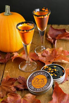 Halloween cocktail rim sugar - our Haunted Pumpkins rim sugar adds a spooky touch to your Halloween party, True Blood party or Gothic wedding. Available in bulk. By Dell Cove Spice Co., Chicago, IL