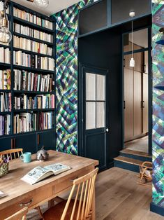 Paris architect Camille Hermand transformed her former office and the space above it into a duplex apartment for herself and her three kids. Parisian Apartment, London Apartment, Paris Apartments, Duplex Apartment, Apartment Therapy, Living Room Photos, Living Spaces, Tables Étroites, Deco France