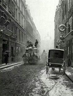 France. Rue de Richelieu, Paris, c. 1900 // Paul Schulz