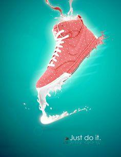Nike women shoe poster design