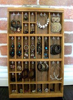 DIY jewerly storage