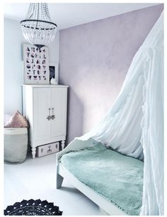 Lucky little girl living in this sweet room. Fresco lime paint in the color Old Rose on the wall. Cred. @hanneflagtvedt