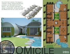 Emergency housing for hurricane victims - designed to be modular in nature so that rescue groups could bring a single module per family as an immediate living solution and follow up as resources allow.