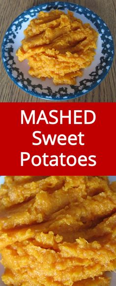 These mashed sweet potatoes are so easy to make and taste so good Bright orange in color and sweet in taste they are always a hit Real Food Recipes, Yummy Food, Gf Recipes, Delicious Dishes, Sweets Recipes, Delicious Recipes, Yummy Treats, Thanksgiving Recipes, Recipes