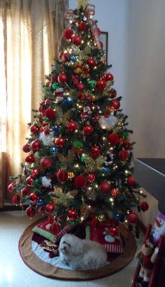 Arboles de navidad decorados con cintas lugares para visitar pinterest - Como decorar mi arbol de navidad ...