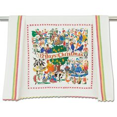 Christmas Dishes, Christmas Tea, 12 Days Of Christmas, Dish Towels, Hand Towels, Tea Towels, Classic Christmas Carols, Holiday, Guest Towels