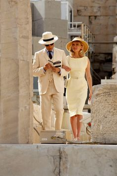 Kirsten Dunst & Viggo Mortensen on Location in Athens. Very classy Vintage Outfits, Classy Outfits, Vintage Fashion, Vintage Dress, Fashion Couple, Look Fashion, Woman Fashion, Mens Fashion, Mode Outfits