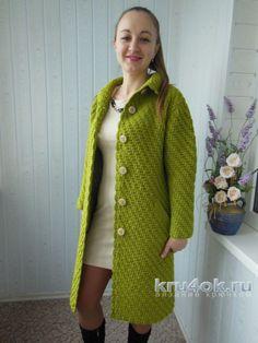 Пальто крючком. Работа Ксюши Тихоненко вязание и схемы вязания