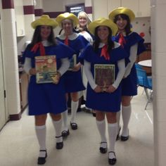 Our Madeline Halloween Costumes! Every year my teammates and I try to be characters from a book! This year was Madeline and the best year yet! My amazing student teacher made our costumes! Enjoy!