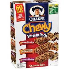 Granola bars to keep in your locker in case you get hungry