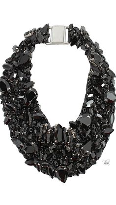 Brunello Cucinelli Swarovski On Silk Collar Necklace
